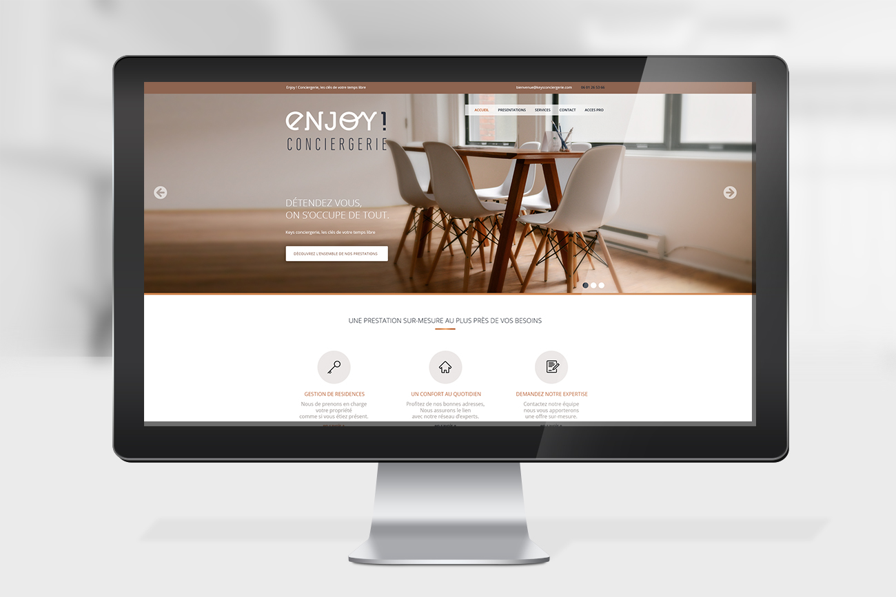 Enjoy Conciergerie - Webdesign