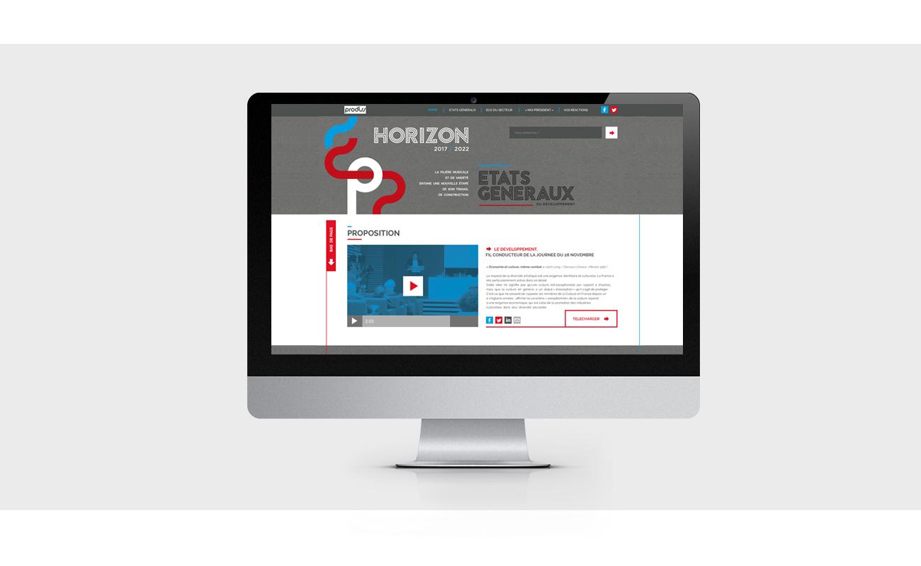 Horizon 2017 - webdesign